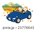 ドライブ 紅葉 夫婦のイラスト 23776643