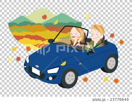 ドライブ中の男女 23776649