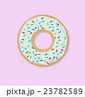 Blue donut with bright topping illustration 23782589
