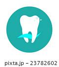 White tooth in a circle dental logo 23782602