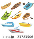 Different Types Of Boats Colorful Set 23783506