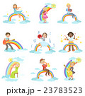 Kids Playing Music Instruments With Rainbow And 23783523