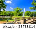 代々木公園 夏 噴水の写真 23783814