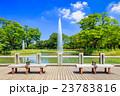 代々木公園 夏 噴水の写真 23783816