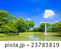 代々木公園 夏 噴水の写真 23783819