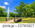 代々木公園 夏 噴水の写真 23783827