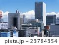 東京都市風景 銀座4丁目を中心に 密集したビル群 眺望 夏空 入道雲 23784354