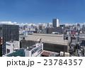 東京都市風景 有楽町からのぞむ銀座町並み全景 密集したビル群 眺望 夏空 入道雲 23784357