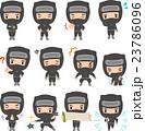 忍者のキャラクターのイラストセット 23786096