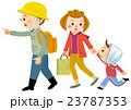 地震 避難 家族のイラスト 23787353