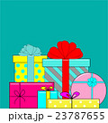 Big pile of colorful wrapped gift boxes 23787655