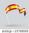 Spanish wavy flag. Vector illustration. 23788069