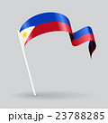 Philippines wavy flag. Vector illustration. 23788285