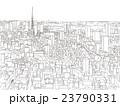東京 街並みイラスト 俯瞰 23790331