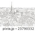 東京 街並みイラスト 俯瞰 23790332