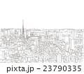 東京 街並みイラスト 俯瞰 23790335