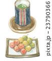 和菓子 州浜だんご 緑茶のイラスト 23790366