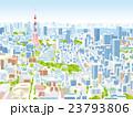 東京 街並みイラスト 俯瞰 23793806