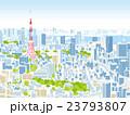 東京 街並みイラスト 俯瞰 23793807