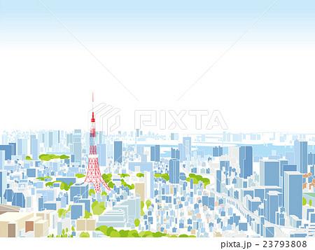 東京 街並みイラスト 俯瞰のイラスト素材 23793808 Pixta