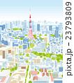東京 街並みイラスト 俯瞰 23793809
