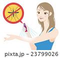 虫除け スプレー 蚊のイラスト 23799026