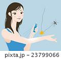 虫除け スプレー 蚊のイラスト 23799066