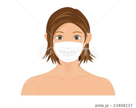 マスクをした女性 23808237