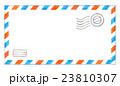 水彩イラスト 封筒 エアメール 23810307
