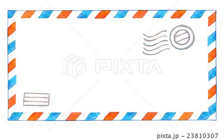 水彩イラスト 封筒 エアメールのイラスト素材 23810307 Pixta