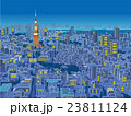 東京 俯瞰した街並イラスト 夜景 23811124