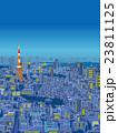 東京 俯瞰した街並イラスト 夜景 23811125