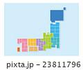 日本地図 日本 地図のイラスト 23811796