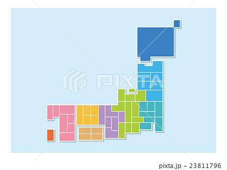 日本地図 23811796