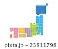 日本地図 日本 地図のイラスト 23811798