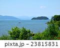 夏の琵琶湖と沖島の見える風景 23815831