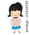 エプロンをした女の子 23816295