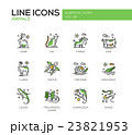 Animals - line design icons set 23821953