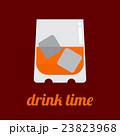 ウイスキー ドリンク ガラス製のイラスト 23823968