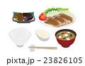 ベクター 生姜焼き 定食のイラスト 23826105