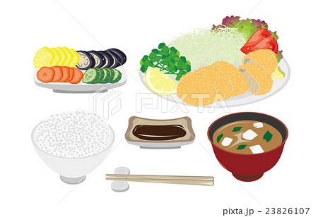 今日のご飯豚カツ定食 23826107