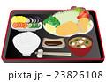 ベクター 豚カツ 定食のイラスト 23826108