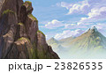Rock and far mountain background illustration 23826535