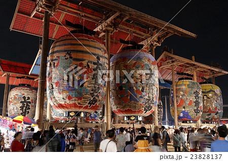 三河一色大提灯祭りの写真素材 [23828137] - PIXTA