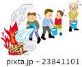 地震 火事 バケツリレー 23841101