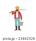 Bearded Man With Fishing Rod And Bucket 23842326