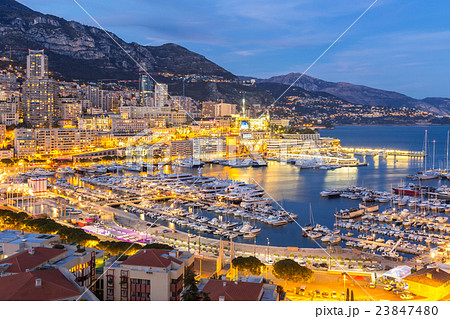 monaco monte carlo harbourの写真素材 23847480 pixta