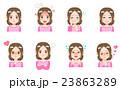 女性 表情 顔のイラスト 23863289