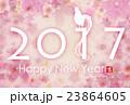 2017 年賀状 桜のイラスト 23864605