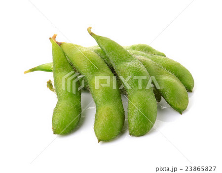 green soybeans on white background 23865827